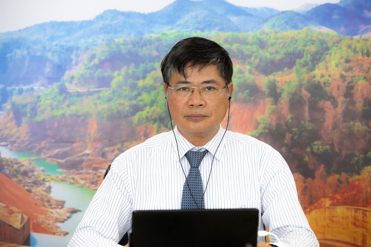 Ông Nguyễn Ngọc Điệp, Chủ tịch Hội Cấp thoát nước Việt Nam phát biểu tại Diễn đàn Lãnh đạo trẻ ngành nước trong khuôn khổ Tuần lễ ngành Nước Việt Nam - Australia 2021.