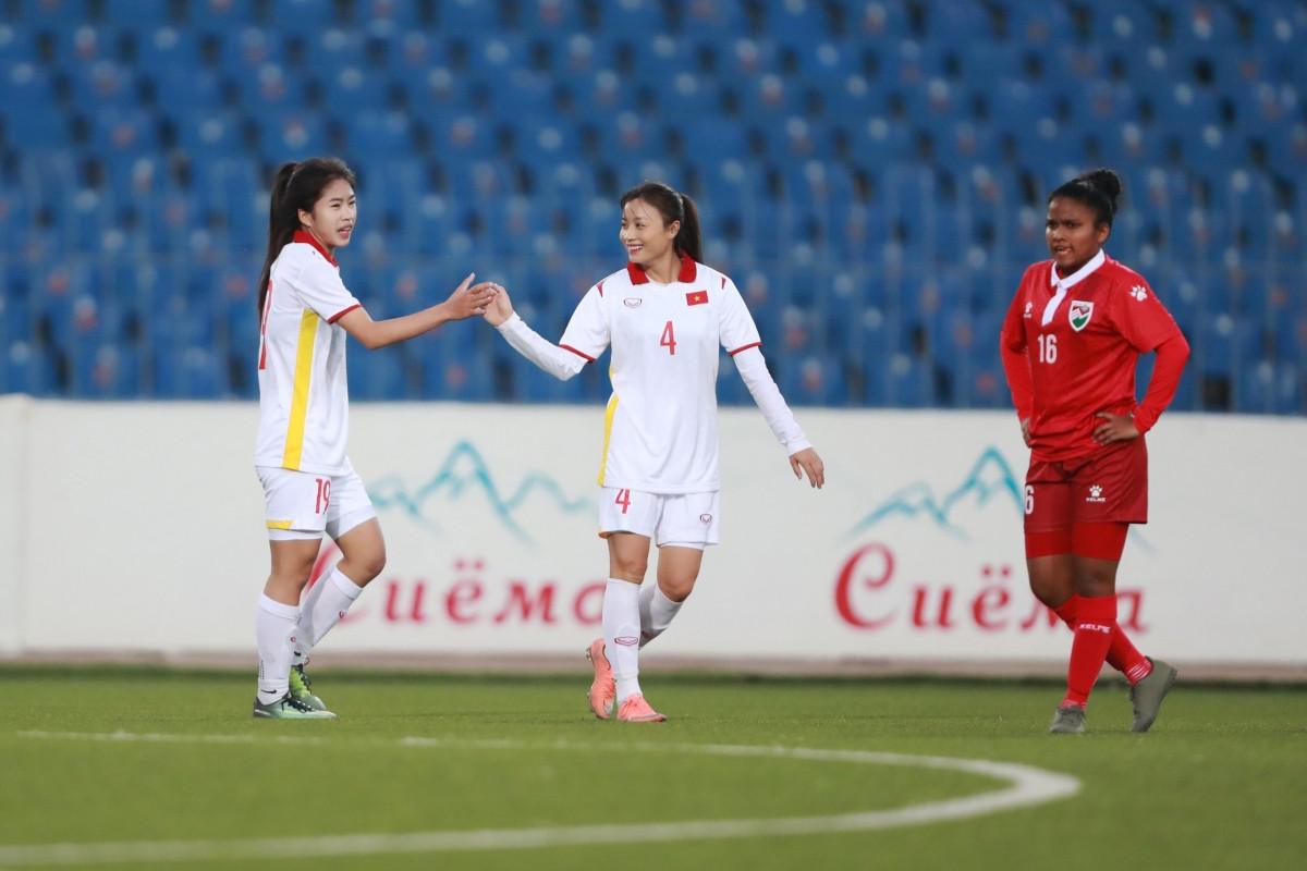 ĐT nữ Việt Nam khởi đầu như mơ ở vòng loại Asian Cup nữ 2022 (Ảnh: AFC).